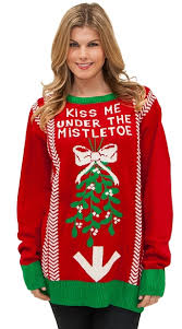 the mistletoe sweater ugly christmas sweater mens christmas