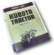 kubota b6000 tractor parts manual catalog list exploded views