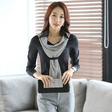 Black Blouse With White Collar Aliexpress Com Buy High Quality New Fashion Women Shirt Slim