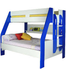 Single Over Double Quality Loft Bunks Beds Twin Bunk Beds In Blue - Single double bunk beds