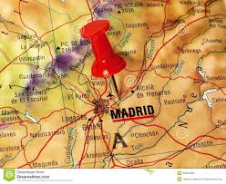 Map Of Madrid Spain by Madrid On A Map Stock Photo Image 49605466