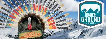 happy thanksgiving from higher ground ski club turkey vintage