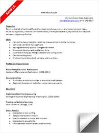 Technician Resume Examples by Maintenance Technician Resume Sample