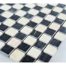 Marble Mosaic Floor Tile Stone Mosaic Tile Square Black Patternd Washroom Wall Marble