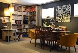 Studio Corner Desk by Stunning Pop Art Studio With Black Walls Also Corner Bookcase And