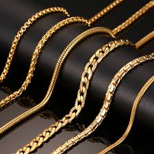 trendy gold chain necklace images Napoleons gold chain men jewelry fashion trendy gold simple chain png