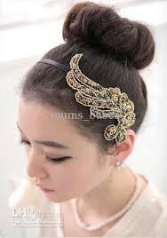 2018 fashion vintage headbands angel wings fabric