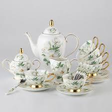 Coffee Set chaoson set luxury bone china camellia coffee set porcelain tea
