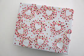 heart wrapping paper diy s day wrapping paper
