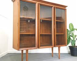 Mid Century Modern Bookcase Mid Century Bookcase Etsy