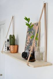 Wooden Shelves Diy by Diy Easy Leather Strap Shelf Shelves Leather Strap Shelves And