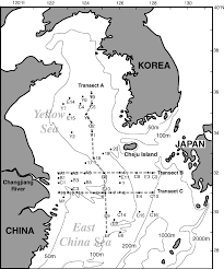 East China Sea Map Location Map Showing Sample Localities Transect Lines And