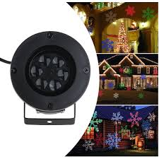 Lighted Snowflakes Outdoor by Amazon Com Leorx Christmas Light Projector Colorful Moving