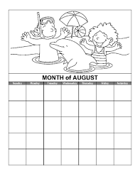 education world august calendar template