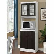 kitchen pantry wood storage cabinets details about black wooden microwave kitchen storage cabinet cupboard pantry organizer