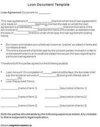 printable sample personal loan agreement form loan template