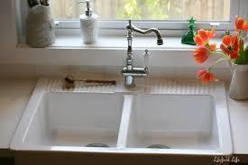 Luxury Kitchen Faucet Luxury Kitchen Area With White Ceramic Double Bowl Ikea Apron Sink