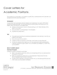 cover letter academic job sample academic advisor cover letter