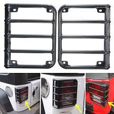 jeep wrangler brake light cover aluminum light guard cover tail rear l protector decor for jeep