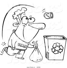 coloring pages recycling recycle futpal of animals bin page