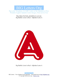 printable big letter a templates big letters org