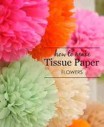 tissue paper flowers diy tissue paper flowers project nursery