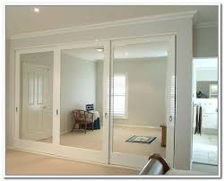Glass Doors For Closets Sliding Bedroom Closet Doors With Mirrors Leandrocortese Info