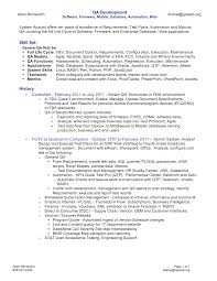 Manual Testing Resume Sample For Experience by Testing Resume Format For Experienced Resume For Your Job