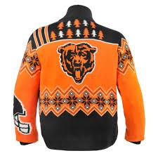 chicago bears nfl sweater cardigan