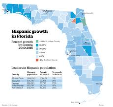 Map Of Florida Panhandle by Florida U0027s Growing Hispanic Population A Big Factor In 2016