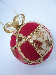 easy intersecting circles sequined kimekomi ornament u2013 ornament