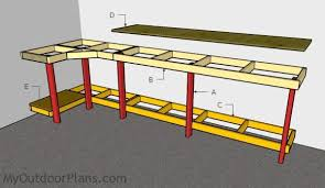 Plans For Building A Wood Workbench by Garage Workbench Plans Myoutdoorplans Free Woodworking Plans
