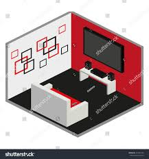 vector isometric living room furniture icon stock vector 437927260