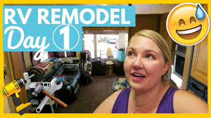 rv remodel renovation day 1 how to remove valances and blinds