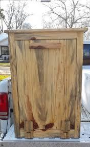 best 25 wooden trash can holder ideas on pinterest rustic trash
