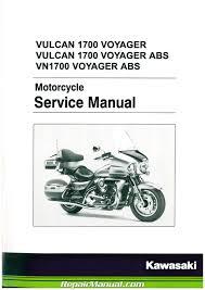 2009 2017 kawasaki vn1700a b vulcan voyager abs motorcycle service