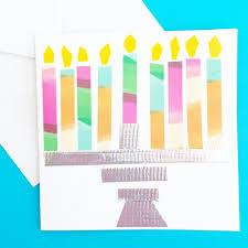 quick cute washi tape cards u2014 art camp