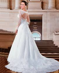 wedding dress open back straps fit and flare sweetheart lace wedding dresses with low open