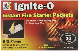 fire starters using flames to amazon com ignite o instant fire starter packets 20 packets 380g