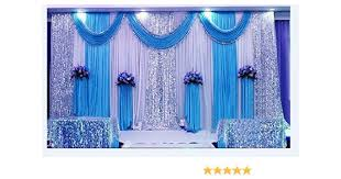 Screen Decoration At Back Of Altar Amazon Com Lb Wedding Stage Decorations Backdrop Party Drapes