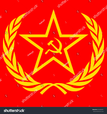 Sickle Russian Flag Yellow Soviet Star Hammer Sickle On Stock Vector 629505947