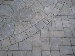 exterior charming cream mosaic natural brick stone patio paver