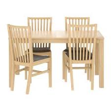 Birch Kitchen Table by Bjursta Norrnäs Table And 4 Chairs Birch Veneer Isunda Gray