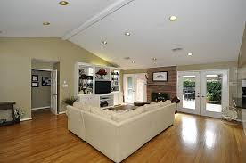 Installing Can Lights In Ceiling Vaulted Ceiling Recessed Lights Houzz With Regard To