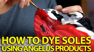 how to make sole dye for translucent icey soles angelus dye and