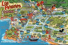 Los Angeles Area Map by Map Of Things To Do In Los Angeles Indiana Map