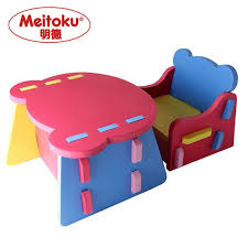 plastic play table and chairs meitoku kids eva foam children table and chair set desk set safe