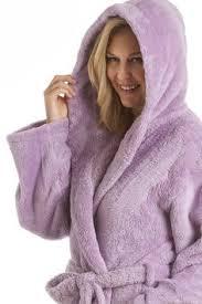 robe de chambre femme polaire avec capuche pyjama à capuche en polaire motif coeurs femme blanc