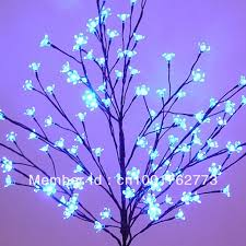 free shipping outdoor blue blossom led tree light 1 2 m 4ft blue