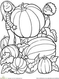 fall coloring picking pumpkins free printable
